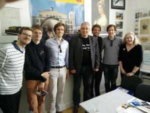 Met Thomas Krakow en een Australische Wagner-fanaat.