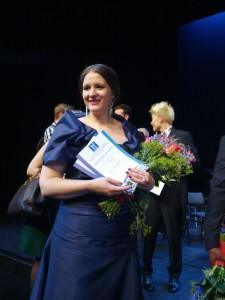 De hoofdprijs won ze niet, maar Lise Davidsen ging wel met drie andere prijzen naar huis.