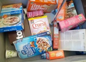 De oproep van het operahuis om kartonnen verpakkingen van cornflakes, ontbijtgranen of wasmiddelen mee te nemen heeft gewerkt (foto: Place de l'Opera).