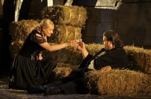 Scène uit Die Walküre (foto: Bayreuther Festspiele / Enrico Nawrath).