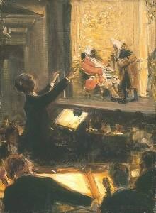 Ernst Edler von Schuch dirigeert Der Rosenkavalier, 1912 (schilderij van Robert Sterl).