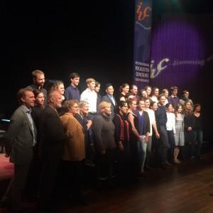 De deelnemers van de Summerschool, samen met hun masters (foto: IVC).