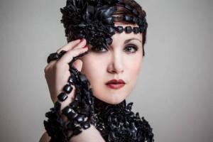 Carmen Giannattasio als model voor Grazia Fortuna Ward (foto: Victor Santiago).
