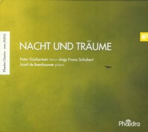 Nacht und Träume, de eerste solo-cd van Peter Gijsbertsen (ontwerp: Liesbeth Lutin).