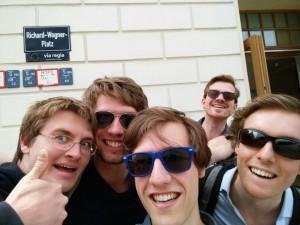Maarten, Rutger, Yourai, Arthur en David bezochten in de zomer de Ring in Dessau.