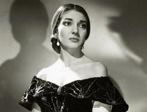 Maria Callas als Violetta in La traviata.