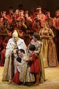 Scène uit I due Foscari. (© BresciaAmisano / Teatro alla Scala)