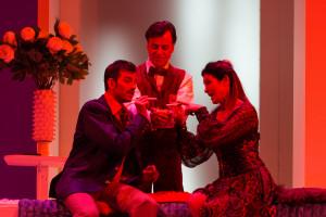 Scène uit Il segreto di Susanna. (© Opéra Royal de Wallonie / Lorraine Wauters)