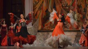 Scène uit La traviata bij de Oekraïense staatsoper.