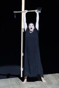 Evelyn Herlitzius als Elektra bij de Bayerische Staatsoper. (© Wilfried Hösl)