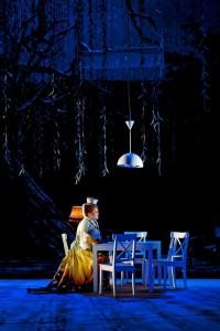 Christiane Libor in Die Feen bij de Oper Leipzig. (© Kirsten Nijhof)