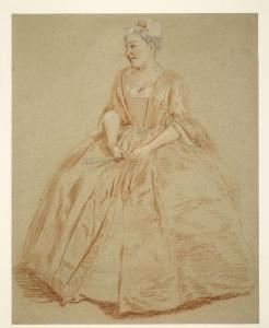 Krijtportret van diva Francesca Cuzzoni, 1740.
