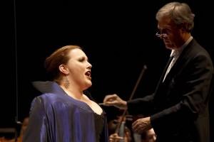 Sopraan Daniela Köhler won in 2010 het IVC door in de finale 'Dich, teure Halle' uit Wagners Tannhäuser te zingen. (© Hans Hijmering)