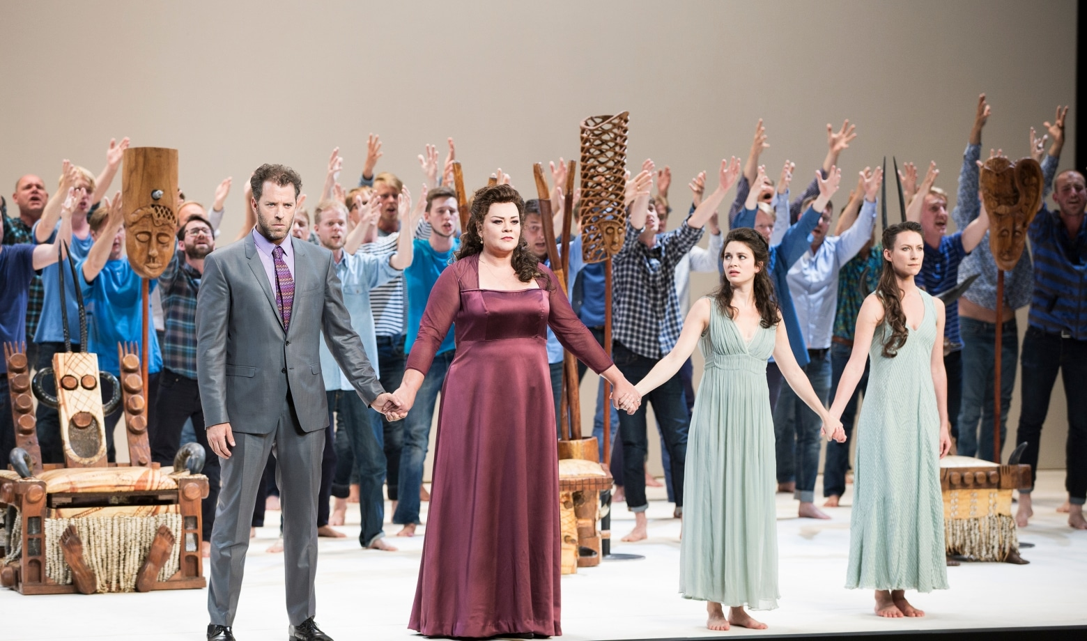 Scène uit Oedipus Rex/Psalmensymfonie bij het Festival d'Aix-en-Provence. (© Vincent Beaume)