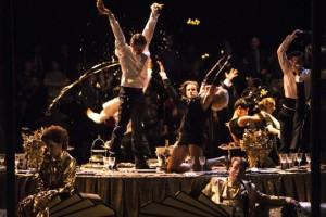 Scène uit Macbeth bij de Munt in Brussel. (© Bernd Uhlig)
