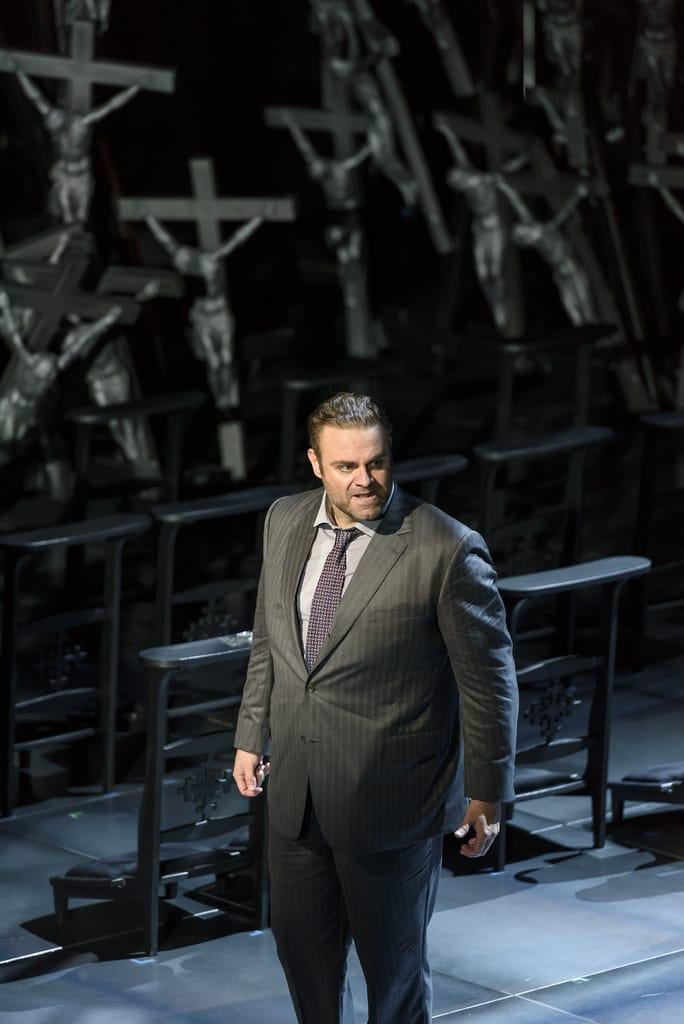 Joseph Calleja als Pollione in Norma bij het Royal Opera House. (© 2016 ROH / Bill Cooper)