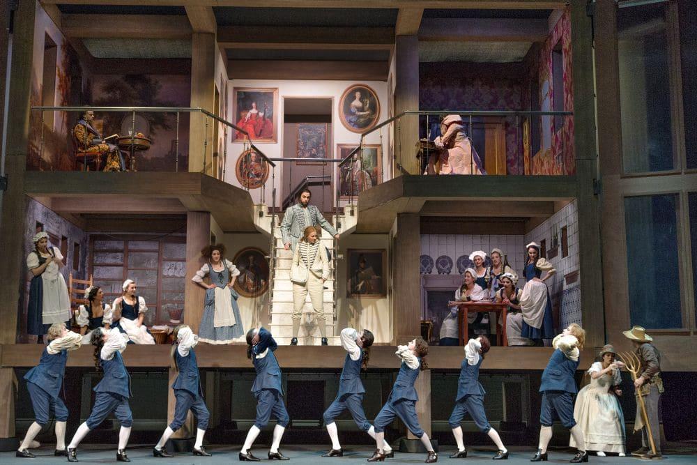 Scène uit Le nozze di Figaro bij Opera Zuid. (© Morten de Boer)