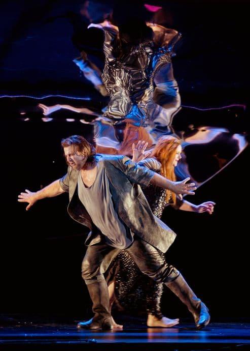 Christopher Ventris (Parsifal) en Petra Lang (Kundry) in de eerste speelreeks van Pierre Audi's Parsifal-productie.