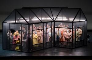 Scène uit Stiffelio bij de Oper Frankfurt. (© Barbara Aumüller)