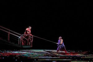 Eric Owens en Tamara Mumford in L'Amour de Loin. (© Ken Howard / Metropolitan Opera)