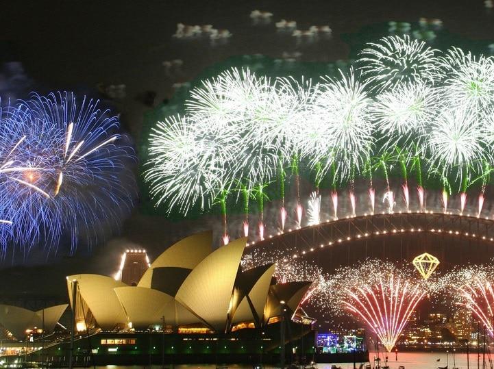 Het knalde weer boven het Sydney Opera House. Een nieuw operajaar is ingeluid! (© Rob Chandler / Creative Commons-licentie)