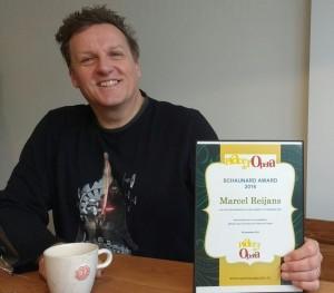 Marcel Reijans ontving de Schaunard Award thuis in Hilversum. (© Place de l'Opera)