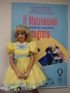Voor de poster van Il matrimonio segreto.