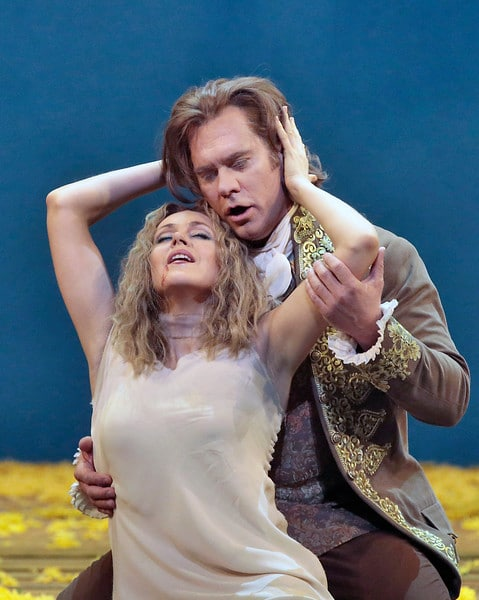 Kristine Opolais en Brandon Jovanovich in Rusalka. (© Ken Howard / Metropolitan Opera)