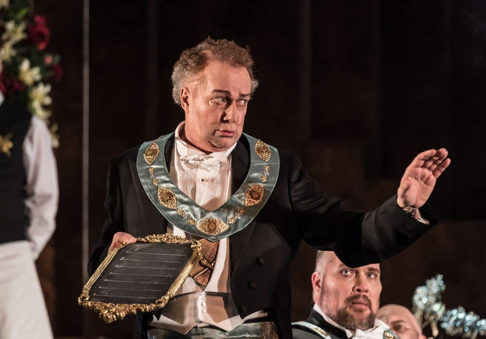 Johannes Martin Kränzle als Sixtus Beckmesser. (© ROH / Clive Barda)