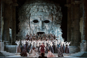 Scène uit Idomeneo. (© Marty Sohl / Metropolitan Opera)
