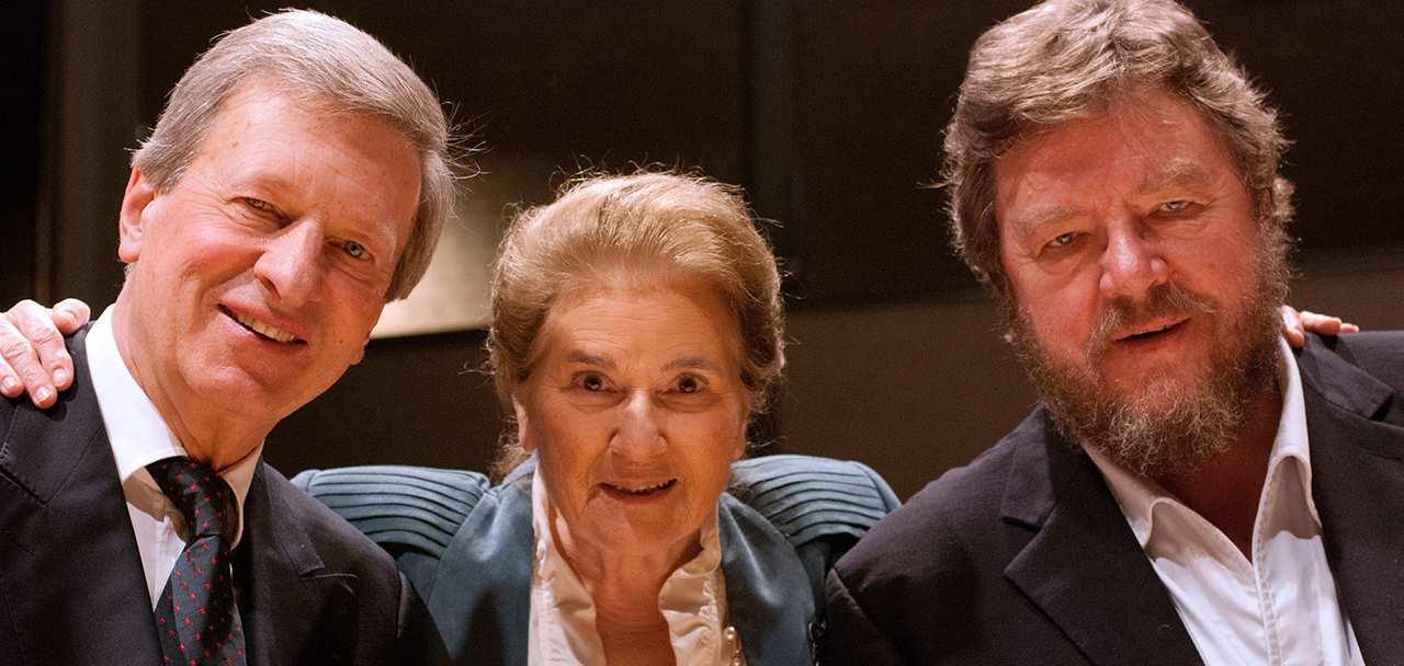 Rudolf Jansen, Elly Ameling en Robert Holl. (© Elisabeth Melchior)