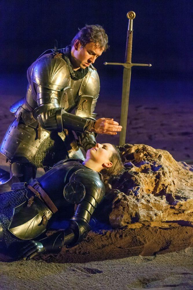 Pawel Konik als Tancredi en Lissa Meyvis als Clorinda in Il Combattimento di Tancredi e Clorinda. (© Hans van den Boogaard)